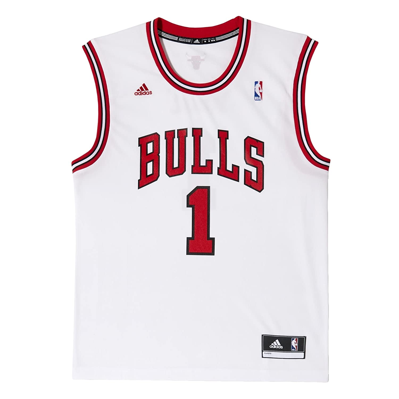 adidas Camiseta de fútbol para Hombre diseño de Mate de Baloncesto Chicago Bulls réplica de Rosa #1 NBA: Amazon.es: Ropa y accesorios