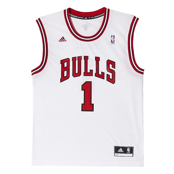 Adidas Camiseta de fútbol para Hombre diseño de Mate de Baloncesto Chicago Bulls réplica de Rosa