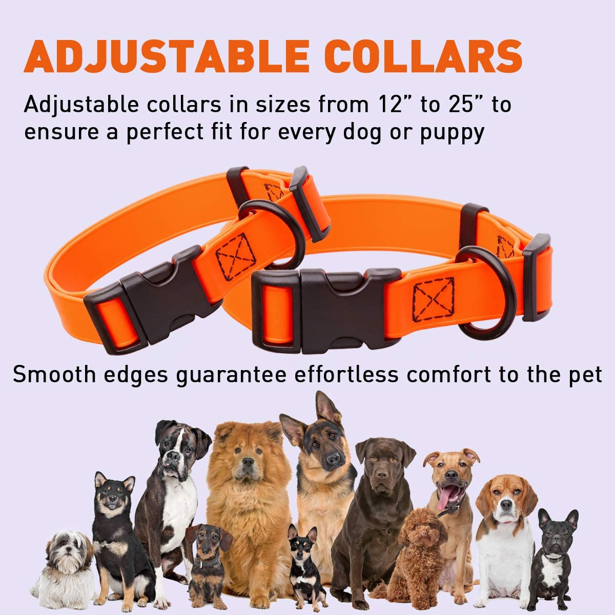 Adjustable Biothane Collar with a Handle
