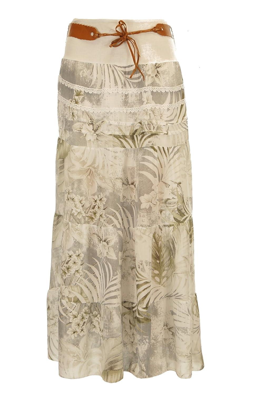 Moda Italy - Falda - Trapecio - para Mujer Weiß 42: Amazon.es ...