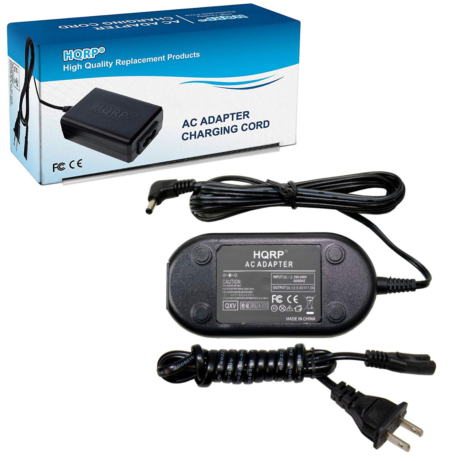 HQRP AC Adapter Charger Compatible with Canon CA-570 VIXIA HF G10 HF G20 HF G30 HF S11 HF S20 HF S30 HF S200 HF S21 VIXIA HF M32 HV20 HV30 HV40 XA10 ZR80 ZR85 ZR90 Camcorder + Euro Plug Adapter by HQRP