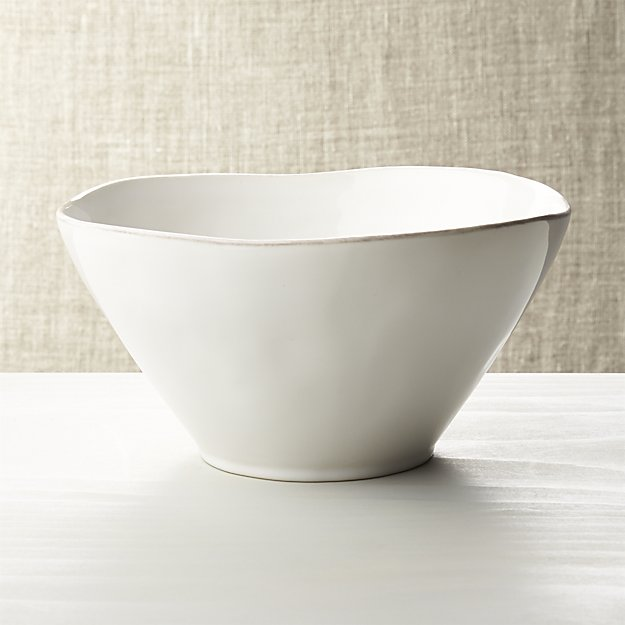 Marin White Small Serving Bowl | Crate and Barrel