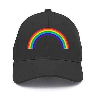 Amazon.com  Dachen Adut Rainbow Snapback Baseball Cap Outdoor Sports ... 6b083b46acc