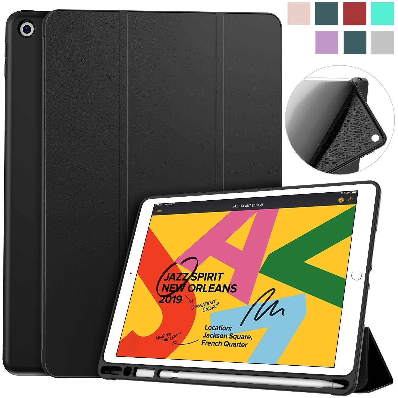Funda Para iPad 10.2 7ma Generacion Con Soporte Para Lapiz