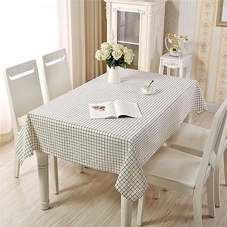 JuAnQ Simple y moderna, fresca pequeña producen algodón cuadrados blancos cuadrados rectangulares Mesas de comedor grueso mantel de tela Manteles de mesa ,140*200cm cubre: Amazon.es: Hogar