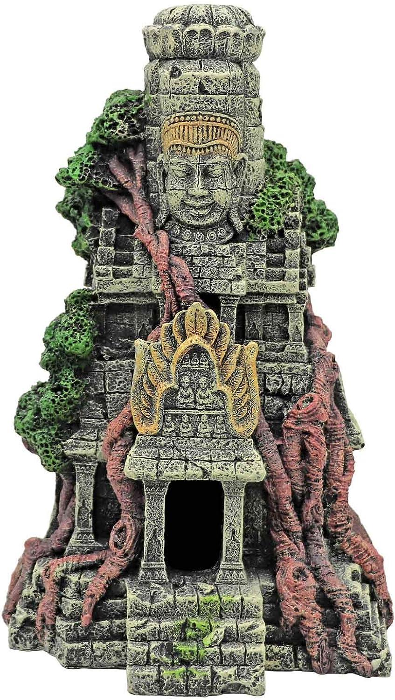 arquitectura urbana Decoraci/ón para cuevas de peceras ornamentos para acuarios MYB Supplies 27 x 15 x 9,3 cm estatua de Buda