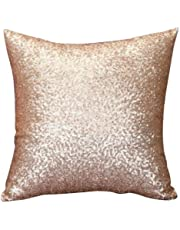 Cushion Cover, HUHU833 40cm*40cm Solid Color Glitter Sequins Throw Pillow Case Cafe Home Decor (Gold)