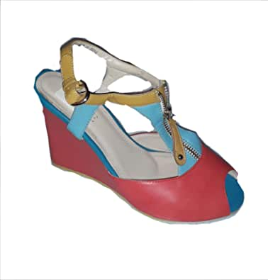 Wedge Leather Sandals For Women