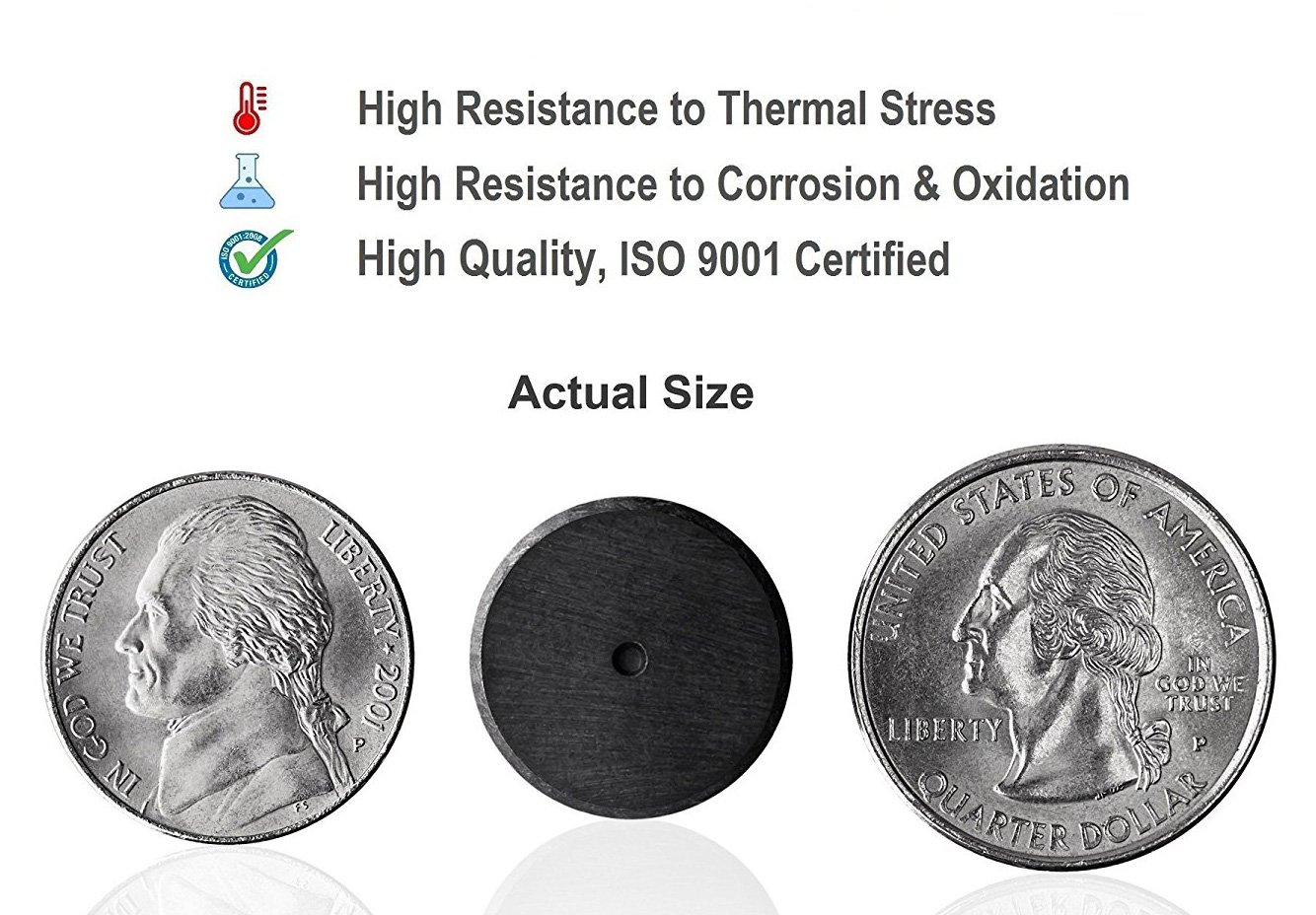 Science/&hobbies .709 Creative Hobbies Ceramic Industrial Magnets -11//16 Inch .198 or 5mm - Ferrite Magnets Bulk for Crafts 3//16 THICK Grade 5-100 pcs//box! Round Disc
