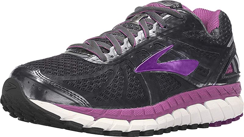 Brooks Ariel 16 Laufschuhe Damen Grau Anthracite Purplecactusflower