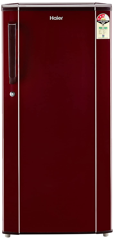 Haier 190L 3 Star Direct Cool Single Door Refrigerator (HED-19TBR, Basic/Burgandy Red)