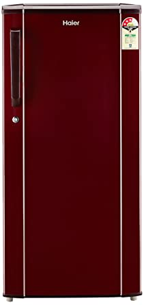 Haier 190 L 3 Star Direct Cool Single Door Refrigerator(HED-19TBR, Basic/Burgandy Red)
