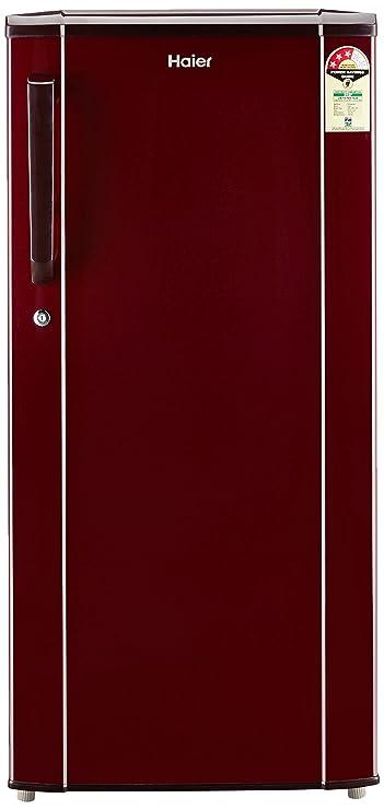 Haier 190 L 3 Star Direct Cool Single Door Refrigerator HED 19TBR, Basic/Burgandy Red  Refrigerators