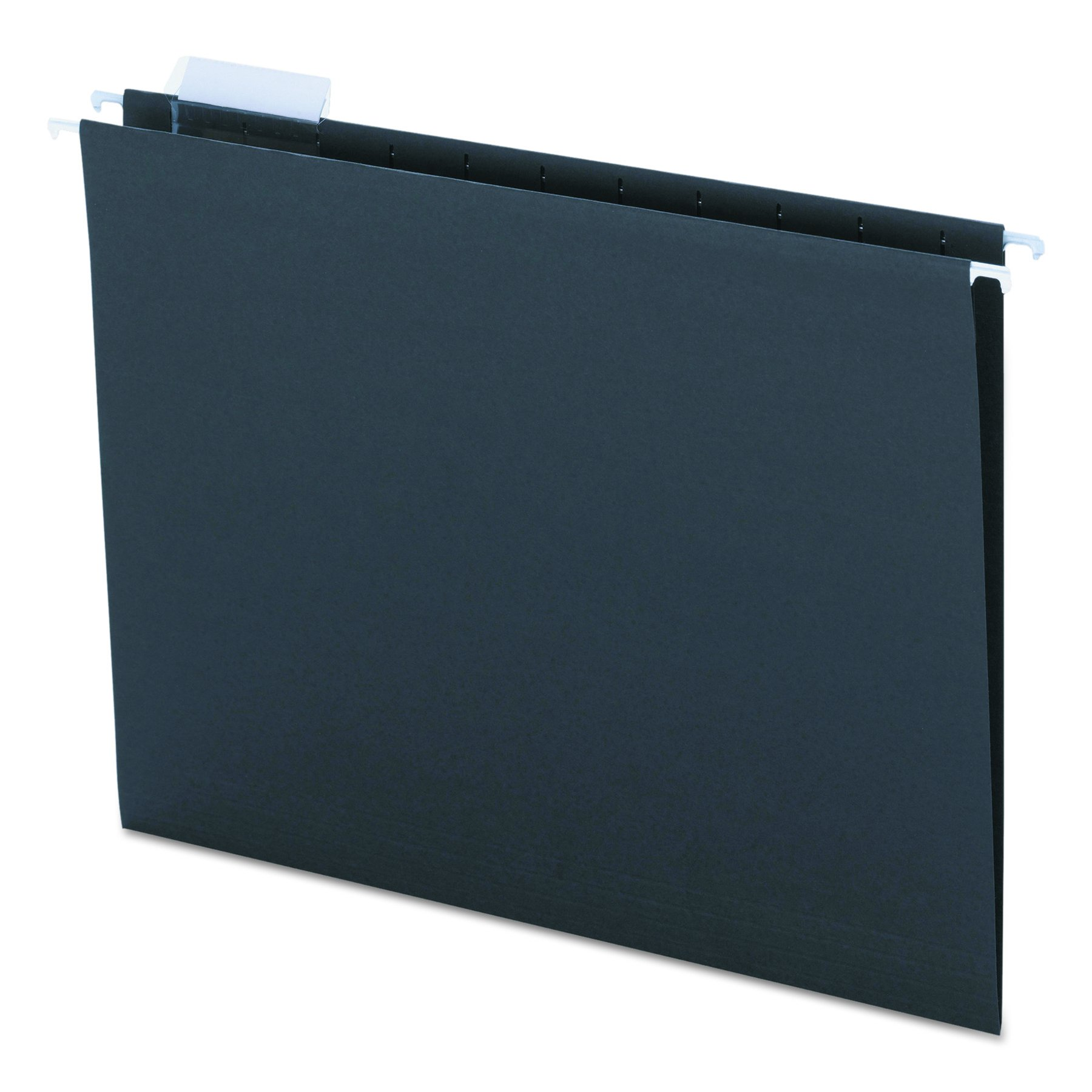 Smead Hanging File Folder with Tab, 1/5-Cut Adjustable Tab, Letter Size, Black, 25 per Box (64062) by Smead (Image #1)