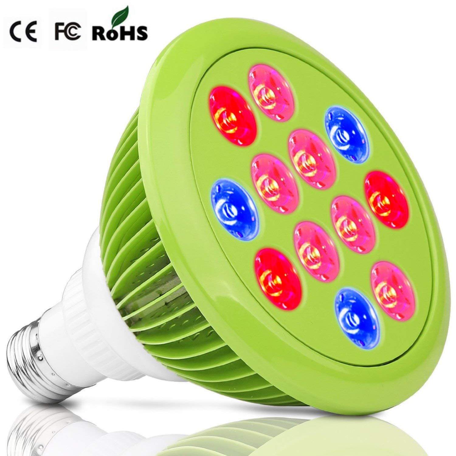 LED Grow Light 24W Plant Grow Lights E27 Growing Bulbs For Garden Greenhouse and Hydroponic Full Spectrum Growing Lamps 3 Bands Growing Combination (660nm and 630nm Red and 460nm Blue) [Energy Class A+++] IDB- Light Future-Uk