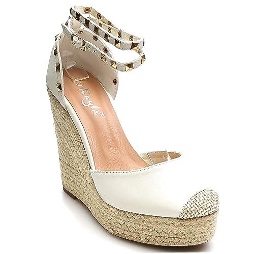 King Of Schuhes Trendige Damen Damen Trendige Riemchen Keil Sandaletten Pumps 271a05