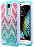 LG K7 Case, LG Treasure LTE Case(L51AL / L52VL), LG Tribute 5 Case, NageBee [Hybrid Protective] Armor Soft Silicone Cover with [Studded Rhinestone Bling] Design Diamond Hard Glitter Case (Wave)