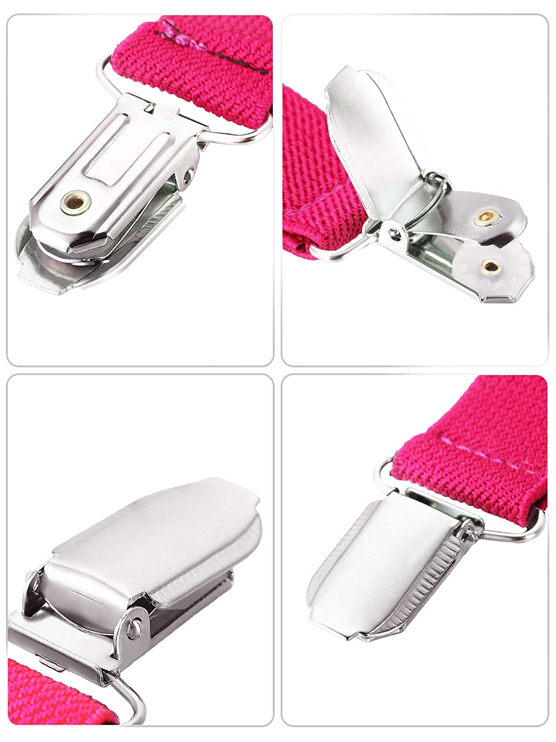 Blulu 4 Pieces 5 inch Mitten Clips Stainless Steel Gloves Cap Clips Short Elastic Clips for Fixing Gloves Coat Mattress