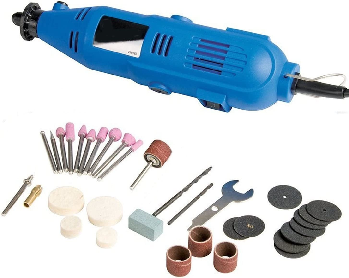Variable Speed Rotary Grinder Cutter Accessories Dremel Tool Kit 100 Piece Set