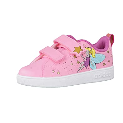 reputable site a70d2 8a711 adidas Neo Aw4124, Baskets Pour Fille - Rose - Light Pink Light Pink
