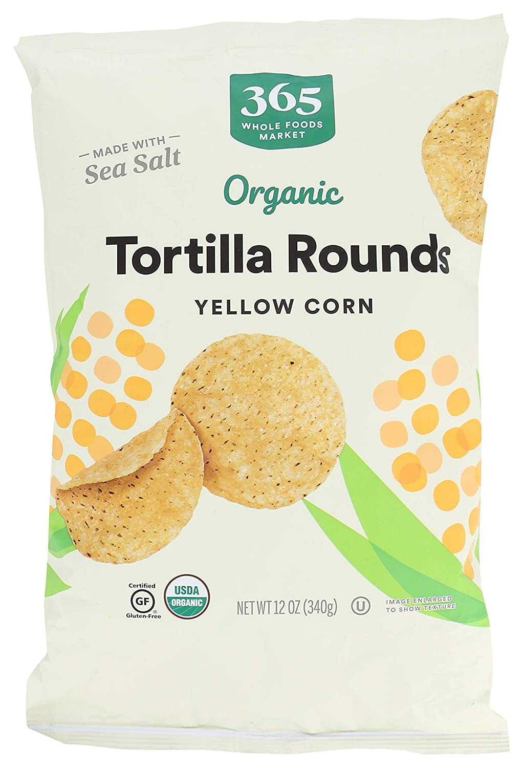 365 by Whole Foods Market, Organic Tortilla Rounds, Yellow Corn, 12 Ounce