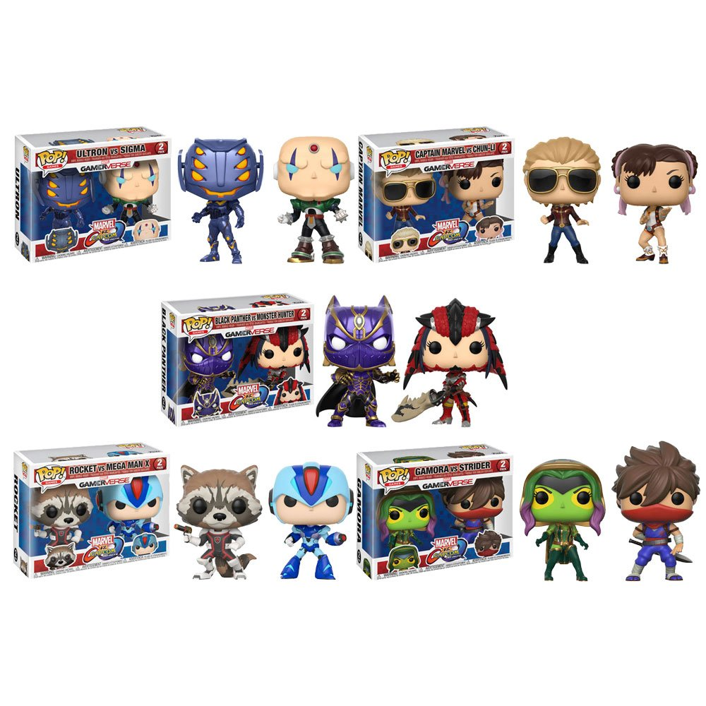 Funko POP! Games - Marvel vs Capcom Vinyl Figure 2-Packs - SET OF 5