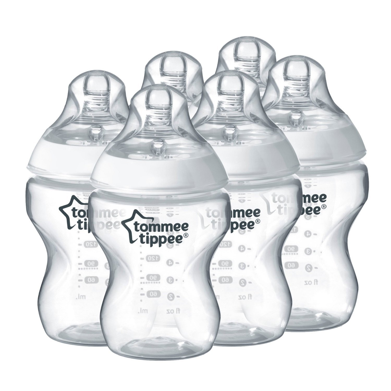 Tommee Tippee Closer to Nature Feeding Bottles - Pack of 6 - My Mom's best