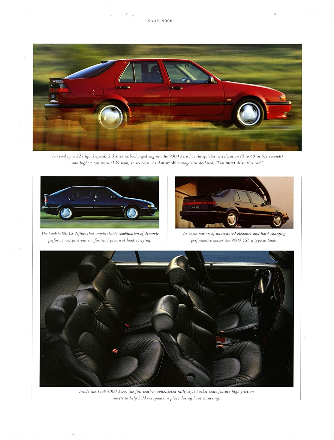 Amazon.com: 1996 Saab 900 9000 Series Brochure: Entertainment Collectibles