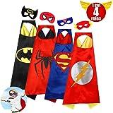 Cartoon Dress Up Satin Capes and Felt Masks Costumes Children Superhero Kids