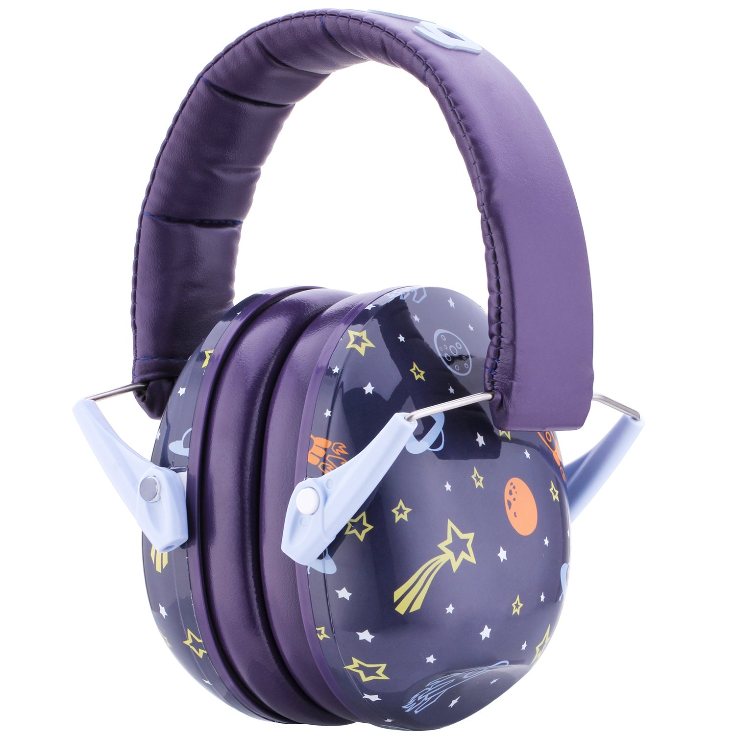 Snug Kids Earmuffs/Best Hearing Protectors - Adjustable Headband Ear Defenders for Children and Adults (Space) by Snug