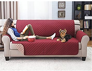 Zercing - Funda de sofá para Perro, Alfombrilla para Mascotas, Manta de Gato, Funda de sofá, Protector de Muebles Cama, Rojo, 3 Sofa Seats: Amazon.es: Hogar