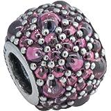 Pandora 791755hcz Shimmering Droplet, Honeysuckle Pink Charm