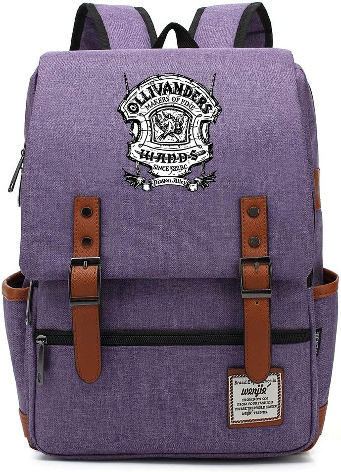 Poudre College Potter Rucksack Harry P Wands Sac /à Dos Leisure Fashion Student Bag Grande Alcool Rouge