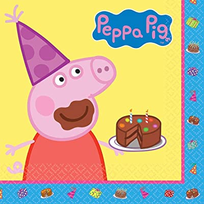 amscan Peppa Pig Lunch Napkins: Toys & Games
