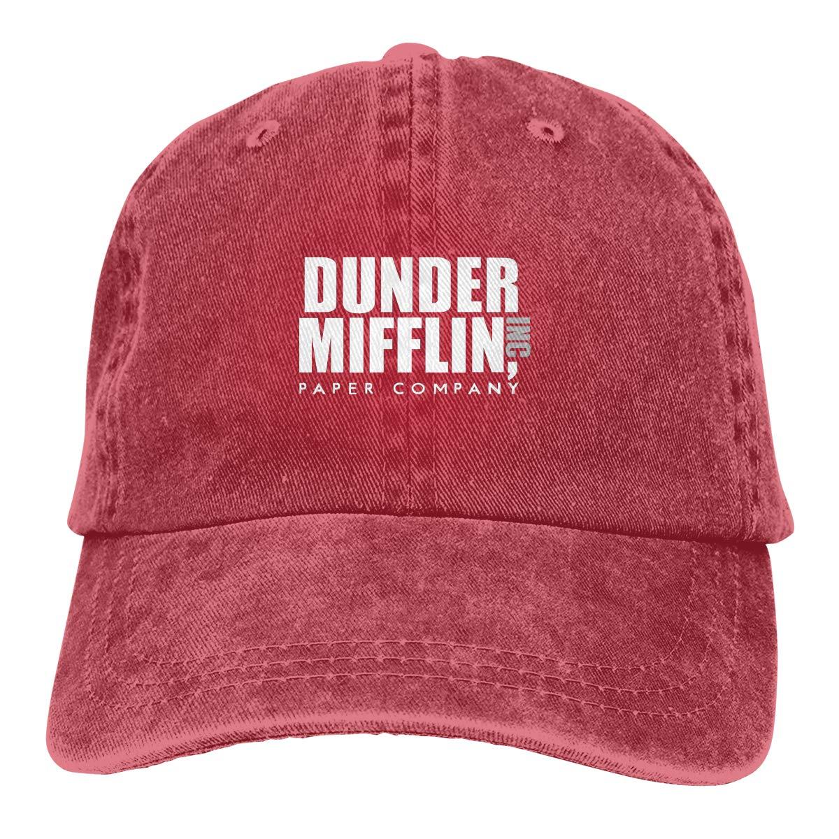 Amazon.com: Baseball Cap Gorras para Hombres Dad Cap Polo Hat Gorras De Mujer Dunder Mifflin Casquette Black: Clothing