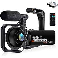 Lovpo Video Camera Camcorder-4K Digital Camera-Vologging Camera Recorder with 16X Zoom 3.0 Inch 270 Degree Rotation for…