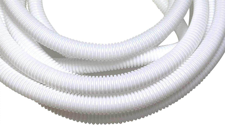 PE Black Corrugated Flexi Pipe Tube Non-Split 6.2mm 5m