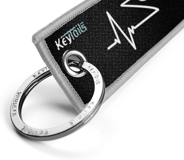 KeyTails Premium-Qualit/ät Motorrad Schl/üsselanh/änger Schl/üsselring Kratzfest Ideal f/ür Ihr Motorrad Auto Herzschlag - Sportfahrrad