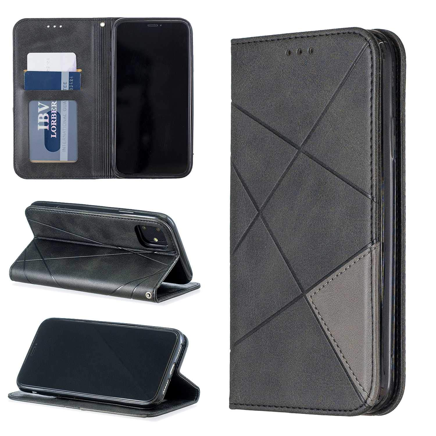 Premium Case for Apple iPhone 6 Plus//iPhone 6S Plus Gray Built in Card Slots and Cash Pocket CUSKING Magnetic Wallet Case with Magnetic Closure