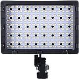 Luz LED para cámara réflex Hakutatz, luz con 160 pcs LED 3 filtro metal soporte para cámara réflex y videocámara