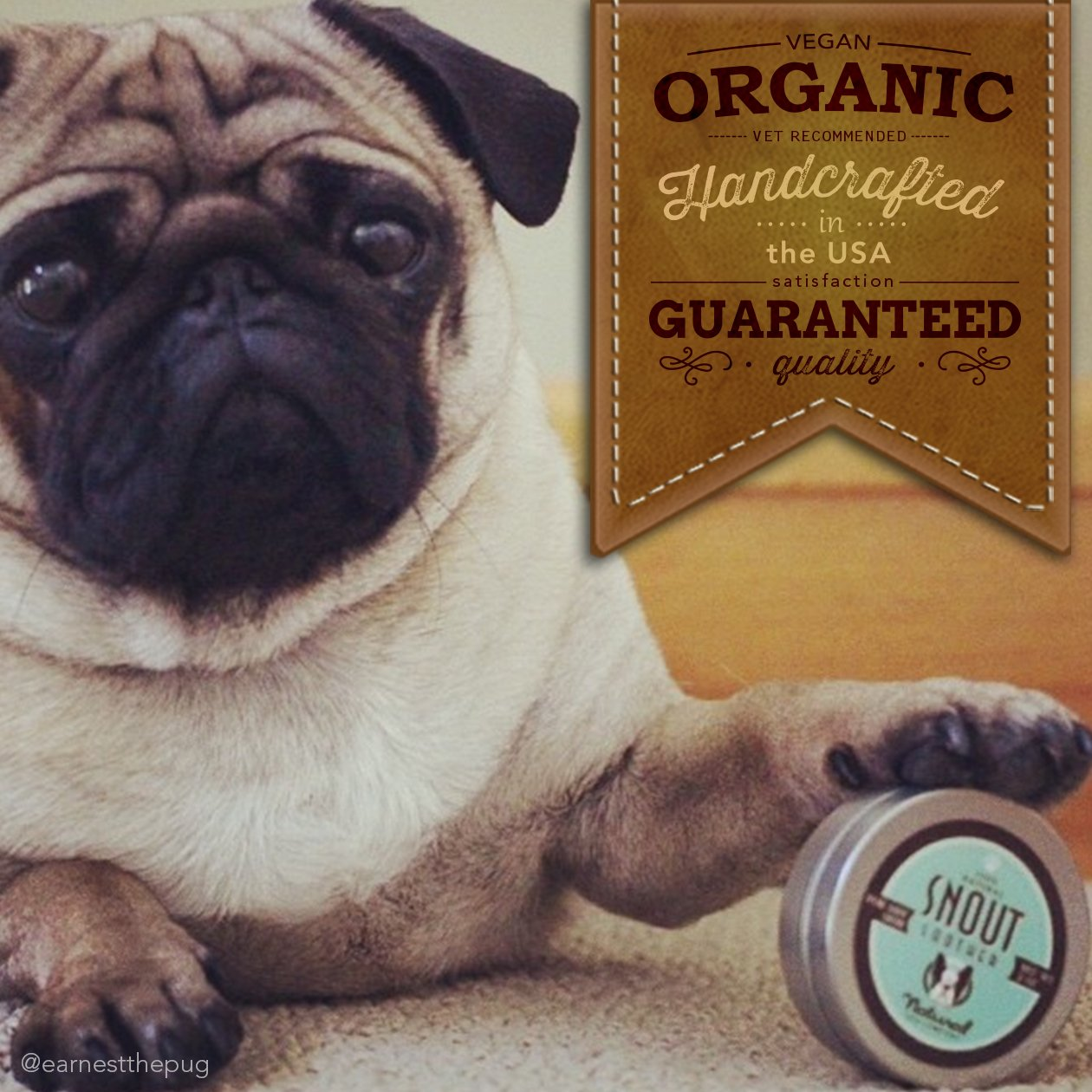 NaturalDog.com SNOUT SOOTHER | Heals Dry, Chapped, Cracked, and Crusty Dog Noses | 2oz Tin + 0.15oz Stick by NaturalDog.com (Image #3)
