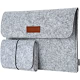 "Laptop Sleeve, dodocool 13.3-Inch Felt Sleeve Case Protective Bag with Mouse Pouch for Macbook Pro/Air/Retina 13""/iPad Pro/HP/Lenovo/Acer/Dell/Asus/Samsung Chromebook and More 13-13.3 Inch Laptops"
