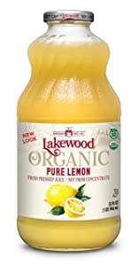Lakewood Organic Pure Lemon, 32 Ounce (Pack of 6)