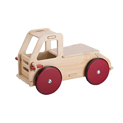 HABA Moover Baby Truck, Natural Wood: Toys & Games