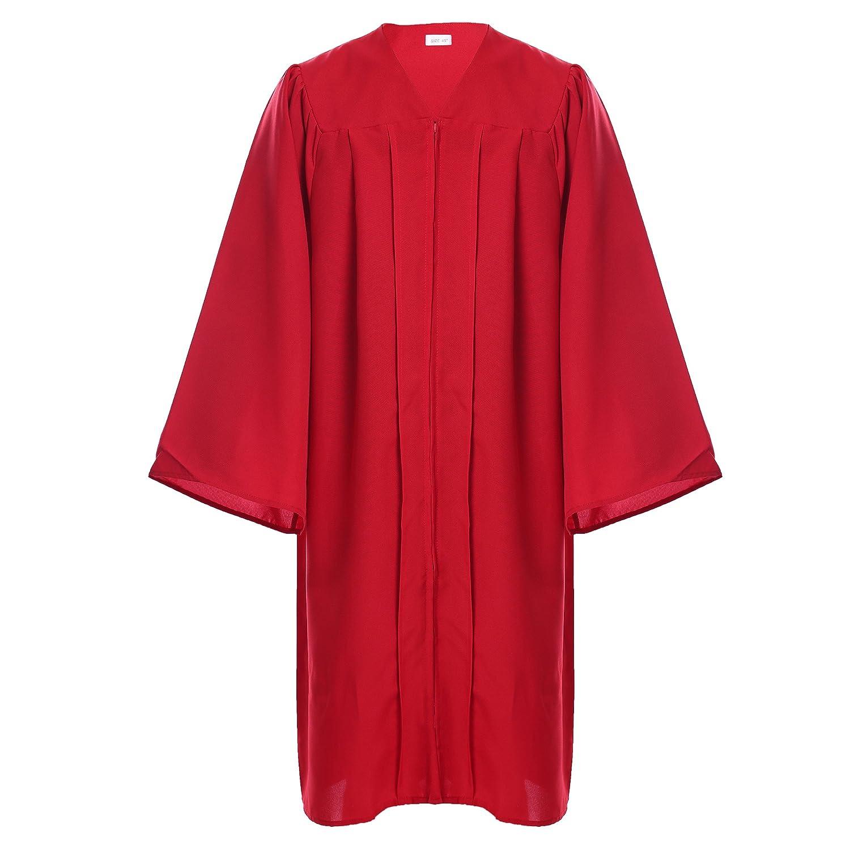 Newrara Unisex Premium Matte Graduation Gown Only