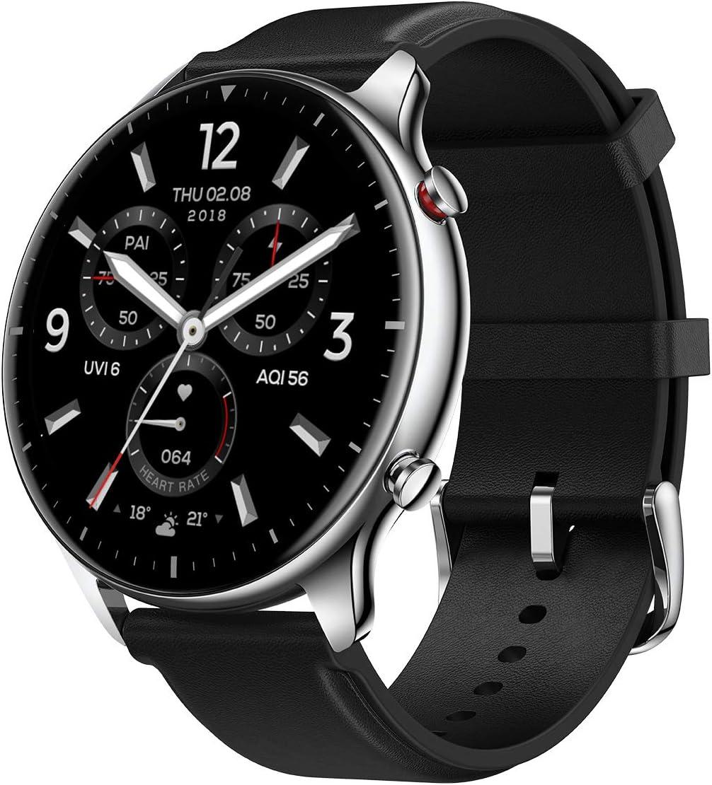 Amazfit GTR 2 Smartwatch Reloj Inteligente Fitness 12 Modos Deportivos 5 ATM Alexa Asistentes de Voz 3GB Almacenamiento de Música Llamadas telefónicas Bluetooth (Stainless)