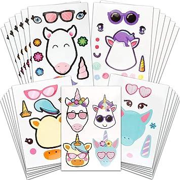Amazon.com: YGDZ 24 pegatinas de unicornio para niños ...