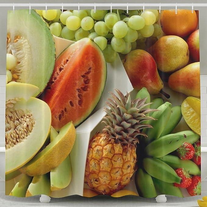 Wons Allsorts Manzanas Banana Alimentos Frutas Uvas Miel melón pera piña sabrosas vitaminas sandía no tóxico Cortina de Ducha 6072 Pulgadas: Amazon.es: Hogar