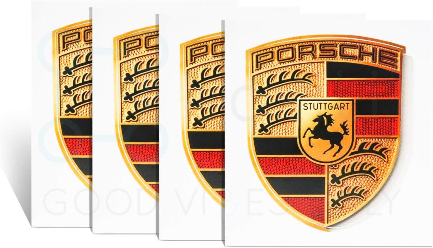 Amazon Com Genuine Crest Sticker Of Porsche Logo 4 Pack 65mm X 53mm Including Wipe Gt3 Rs 4 0 Gt2 Style Porsche Emblem Logo Sticker Automotive