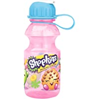Zak! Designs Tritan Water Bottle with Flip-up Spout with Shopkins Graphics, Break-resistant and BPA-free Plastic, 14 oz.